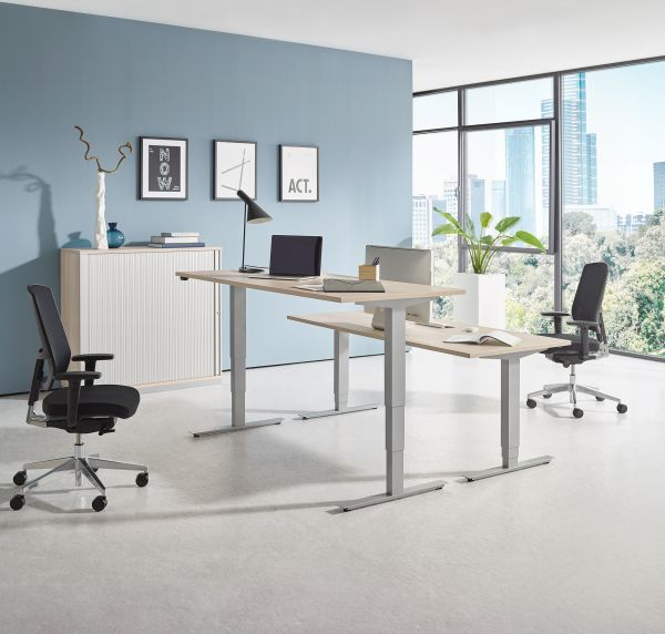 Steh-Sitztisch move 2.0 Rechteckform